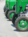 Green vintage tractors Stock Photography