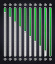 Green volume bar . Web Elements Royalty Free Stock Photo
