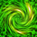 Green Vortex Abstract Background Pattern Stock Image