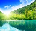 Green water lake Royalty Free Stock Photos