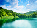Green water lake Stock Image