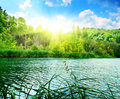 Green water lake Royalty Free Stock Photography