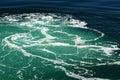 Green Water Wake Royalty Free Stock Photo