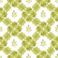Green watercolor seamless pattern with leaves. Hand paint background. Can be used for wallpaper and fabric design.
