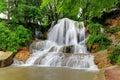 Green waterfall with name Lucky, Slovakia