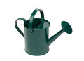 Green watering can isolated on a white background Royalty Free Stock Image