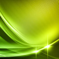 Green wave lines abstract background with on a surface Stock Photos