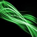 Green Waves Fractal Background