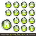 Green web buttons Royalty Free Stock Images