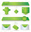 Green web design banner sale for website Royalty Free Stock Image