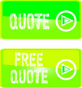 Green web sign free  quote Royalty Free Stock Photo