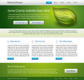 Green website template design Stock Image