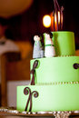 Green wedding cake Stock Image