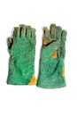 Green welding glove Royalty Free Stock Photos