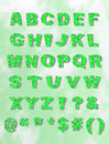 Green Whimiscal Block Font with Shadow