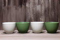 Green and white bowls Royalty Free Stock Photo