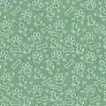 Green and White Doggy Tile Pattern Repeat Background Royalty Free Stock Photo