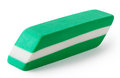 Green with white eraser isolated on background Royalty Free Stock Photography