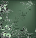 Green and white flowers decoration Stock Photo
