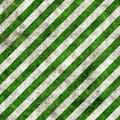Green white grunge hazard stripes Royalty Free Stock Photo