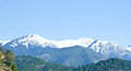 The green white himalayan range of patnitop with panoramic view snow covered peaks Royalty Free Stock Photos