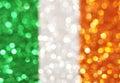 Green, white, orange stripes - elegant abstract background Royalty Free Stock Photo