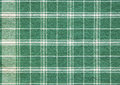 Green white plaid table cloth background wallpaper Royalty Free Stock Photo