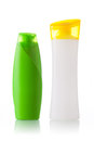 Green and white plastic bottle Royalty Free Stock Photo