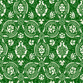 Green and white Seamless abstract floral pattern vintage background