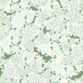 Green and white seamless pattern background. Spring floral texture. Abctract flower vector. Royalty Free Stock Photo