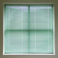 Green Window Blinds Royalty Free Stock Images
