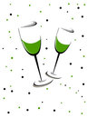 A green wine glass theme of Patrick's Day Royalty Free Stock Image