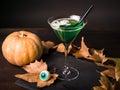 Zelený čarodějnice koktejl