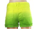 Green women jeans shorts. Royalty Free Stock Photo