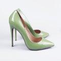 Green Women Shoes On White Bac...