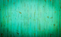 Green wood background close up view of old wall colored in Royalty Free Stock Photo