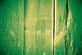 Green wood texture with three broken boards Stock Image