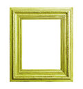 Green wooden frame Royalty Free Stock Photo