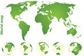 Green world map Stock Image