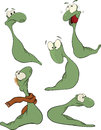 Green worm .Clip-art Royalty Free Stock Images