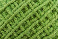 Green yarn close up the used for knitting clothes Royalty Free Stock Image