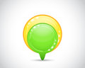 Green and yellow arrow button Royalty Free Stock Photo