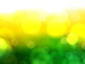 Green and yellow background defocus fresh Royalty Free Stock Photo