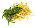 Green and yellow beans Stock Images