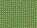 Green and yellow checked fabric tablecloth large background texture Stock Photo