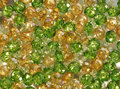 Green and yellow crystal beads shiny Royalty Free Stock Image