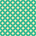 Green & Yellow Diamond Star Circle Pattern Royalty Free Stock Photo