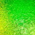 Green and yellow gel liquid with bubble Stock Photos
