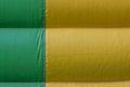Green yellow PVC tarpaulin detail background Royalty Free Stock Photo