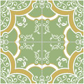 Green and yellow tile pattern Stock Image